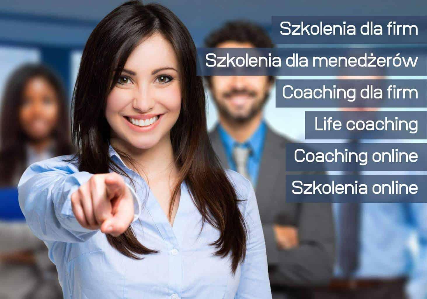 Kobieta wskazująca palcem Business coaching Wiktor Tokarski