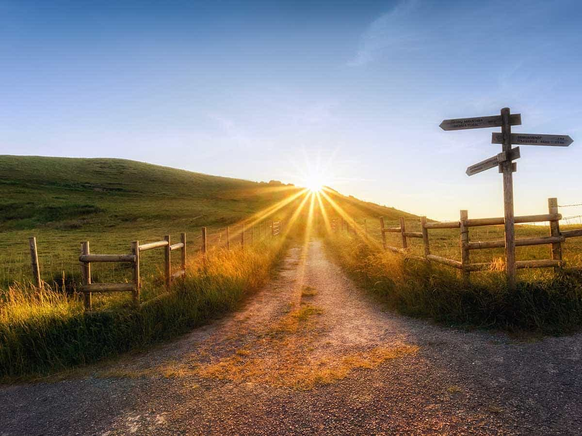 Droga wiodąca w kierunku słońca Life coaching