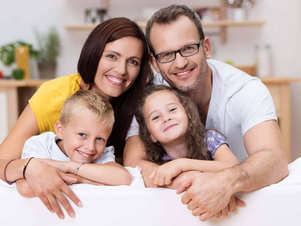 Rodzina z dwójka dzieci Life coaching