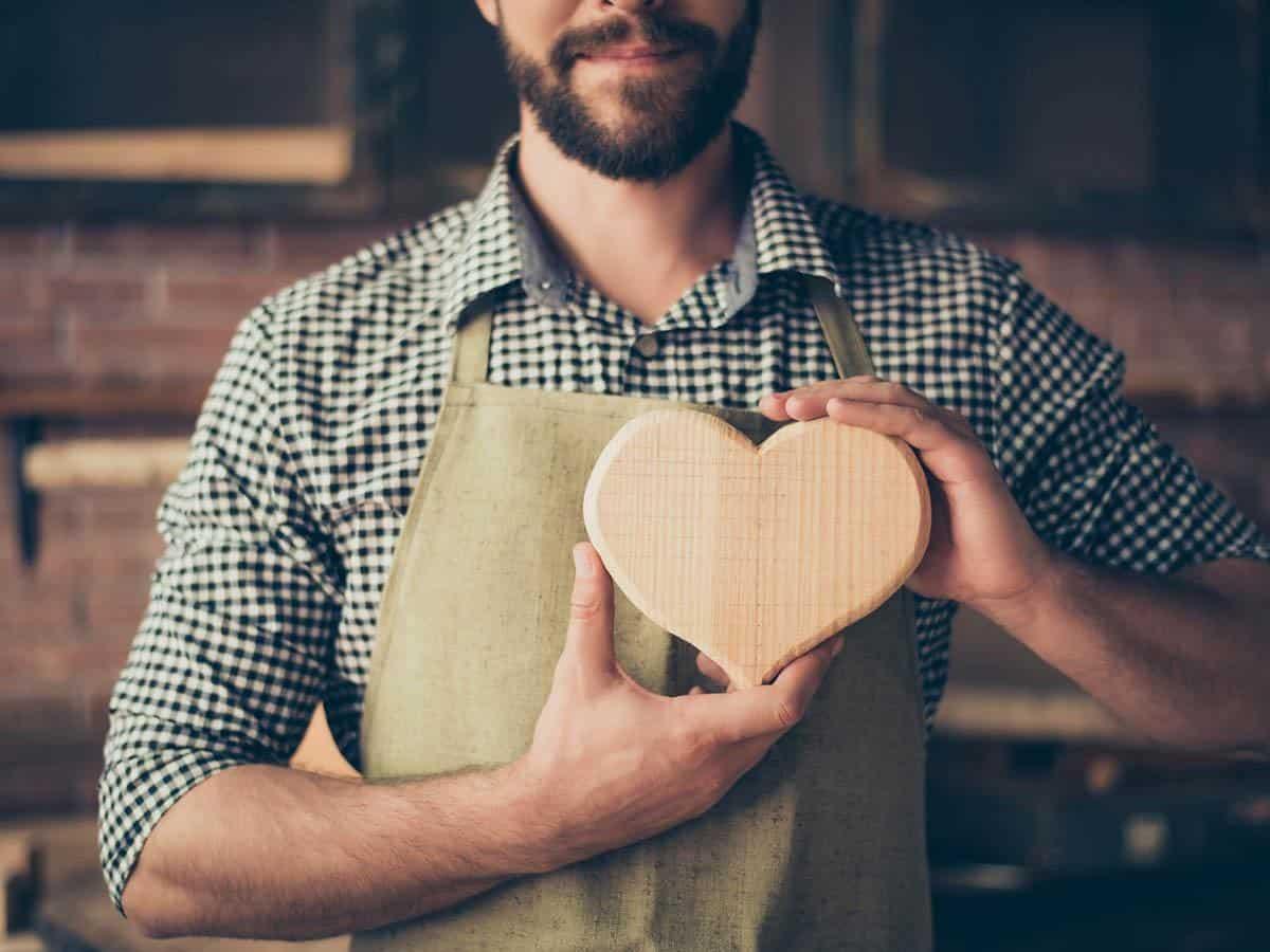 Mężczyzna z drewnianym sercem Life coaching