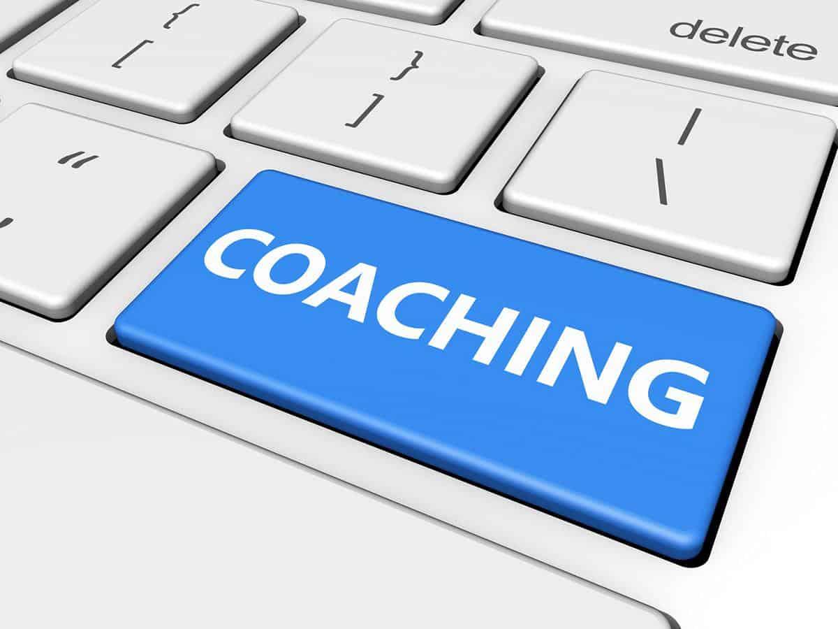 Klawiatura z napisem coaching Life coaching