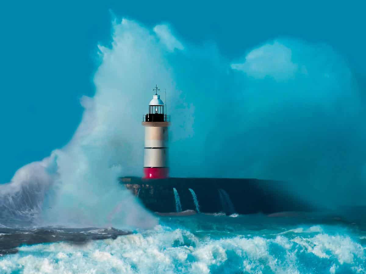 Latarnia morska podczas sztormu Life Coaching